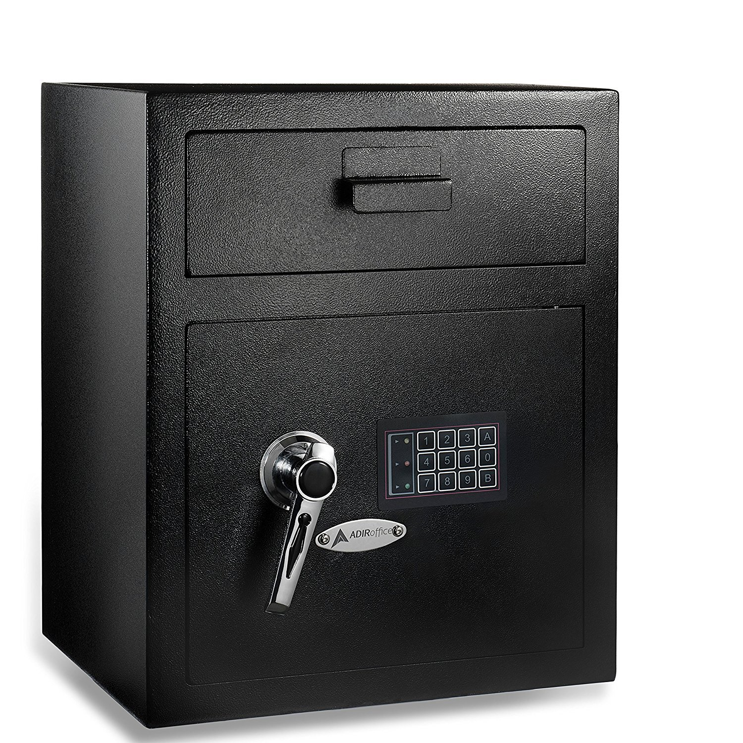 AdirOffice Digital Depository Safe - Front Loading - Digital Keypad Lock - Lockout Mode (Black) by AdirOffice