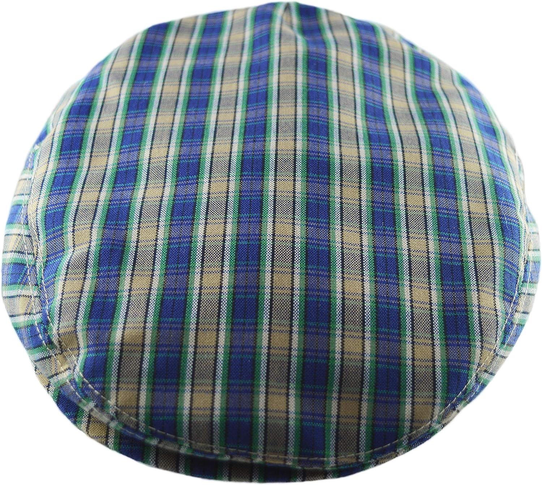 Big Fisch Boys Flat Peak Cap for Children Summer Tartan Checked Hats