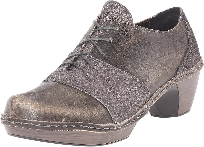 Naot Damen Schuhe Halbschuhe Besalu Echt Leder Grau Combi 14714 Wechselfußbett B074W4J6KV
