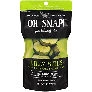 Oh Snap Fresh Dill Pickle Snacking Cuts, 3.5 Ounce (Pack of 12)