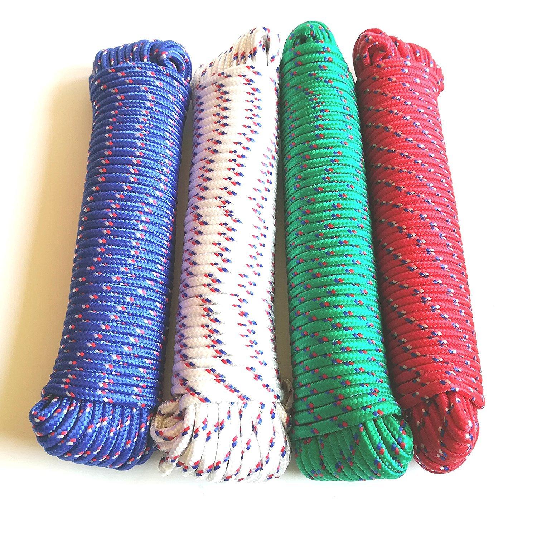 Polyester 30 Meter Strick Flechtleine Festmacherleine Leine zum Aufh/ängen der W/äsche GF Home Allzweckseil Seil Leine 5 mm
