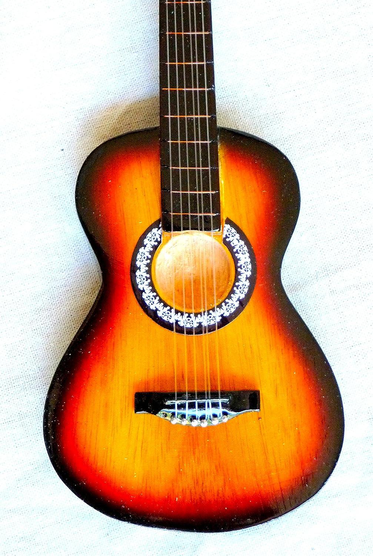 Guitarra en miniatura decorativa Mini Guitar Fender Telecaster 25 cm mano de madera # 130: Amazon.es: Instrumentos musicales