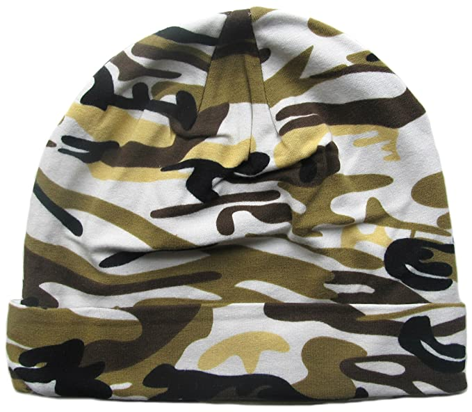 So Sydney Stretch Cotton Camo Hat for Infant Baby - Green Beige (Toddler 7333eeb325e
