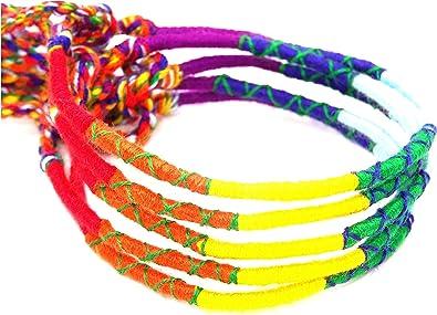 Lot de 5 Bracelet Brésilien Amitié Porte Bonheur Coton vert