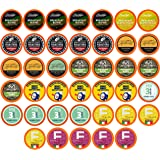 Two Rivers Coffee Light Roast Coffee Pods, Compatible with 2.0 Keurig K-Cup Brewers, Variety Sampler Pack, 40 Count