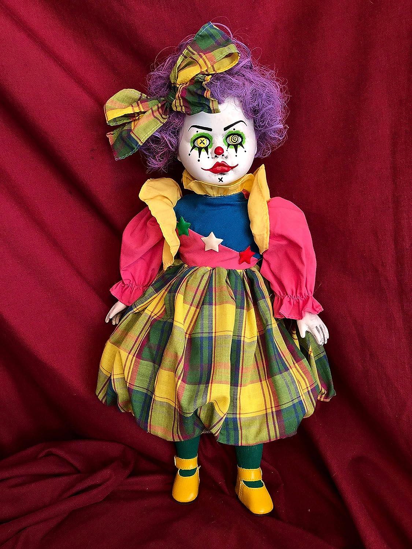 OOAK Punky Brewster Clown Creepyホラー人形アートby Christie creepydolls   B07BH9PPH8