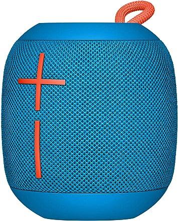 Comprar Ultimate Ears Wonderboom Altavoz Portátil Inalámbrico Bluetooth, Sonido Envolvente de 360°, Impermeable, Conexión de 2 Altavoces para Sonido Potente, Batería de 10 h, color Azul