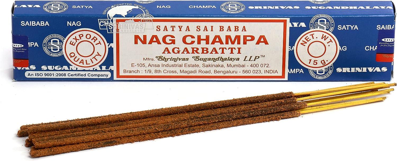 Satya Nag Champa - Varillas de incienso, 15 g, 3 unidades