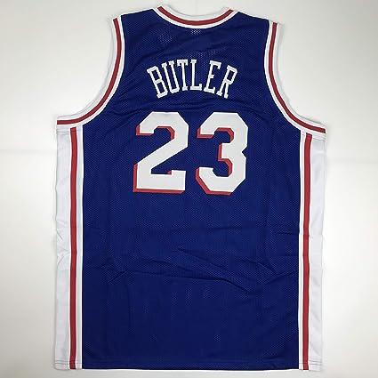 12798cc83 Unsigned Jimmy Butler Philadelphia Blue Custom Stitched Basketball Jersey  Size Men's XL New No Brands/