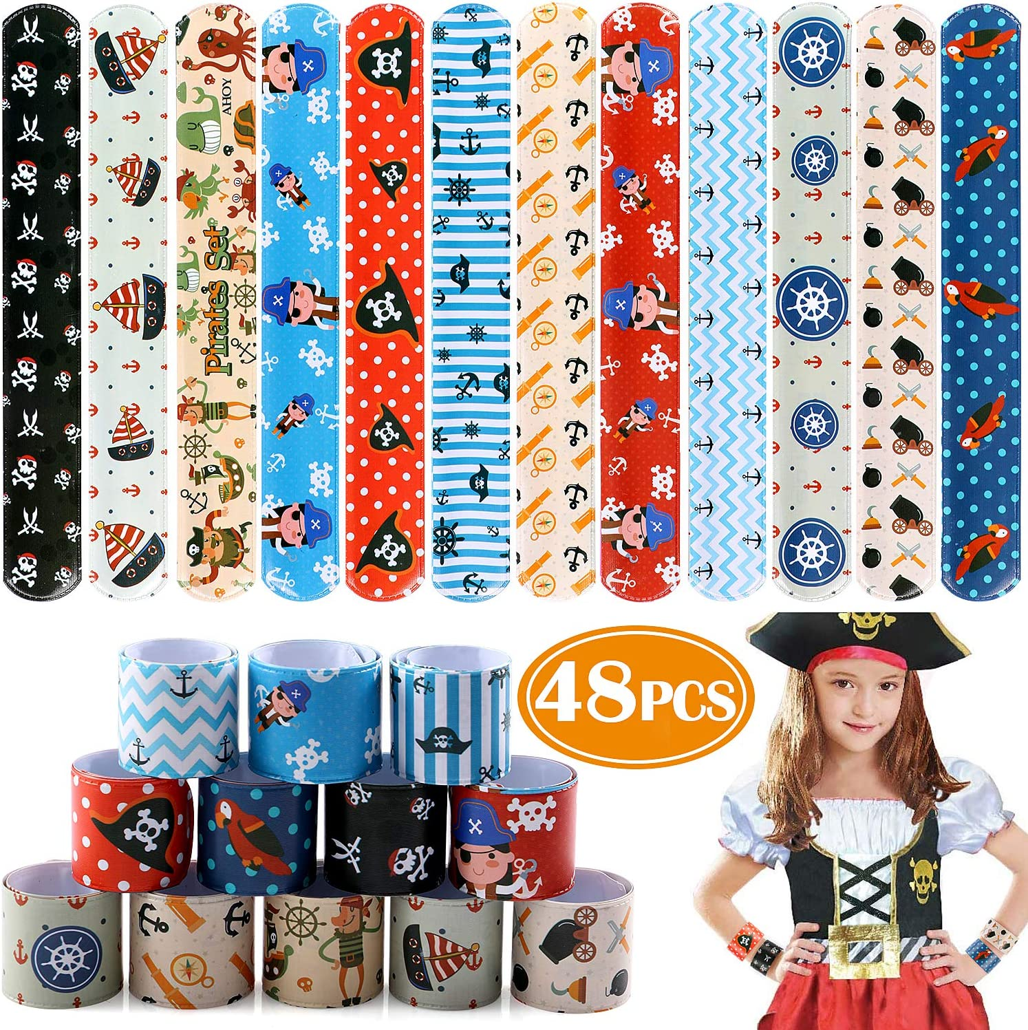 12 PIRATE PAPER HATS  Kids//adult  Party Bags pinata Fillers Toys costumes gifts