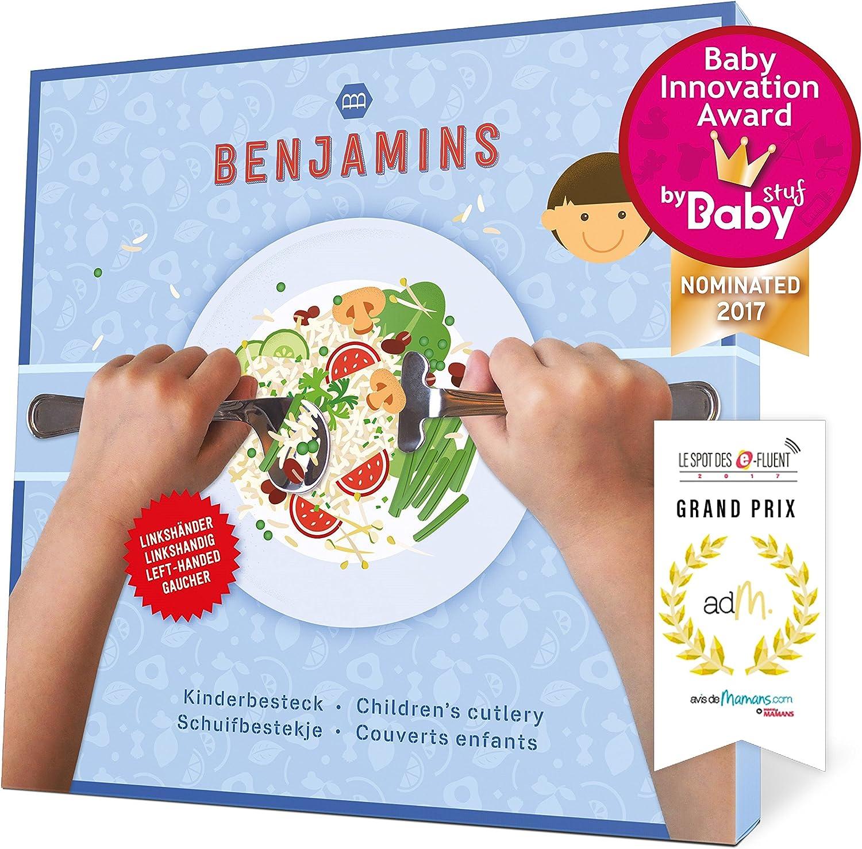 Benjamins Products Ensemble de couverts pour enfant Pusher et cuill/ère Ensemble parfait pour la d/écoration murale mains denfants l/éger et confortable 12/mois +