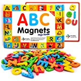 Pixel Premium Magnetic Letters for Kids - 142 ABC Alphabet Magnets for Preschool Toddlers - Letter Magnets with White Magneti