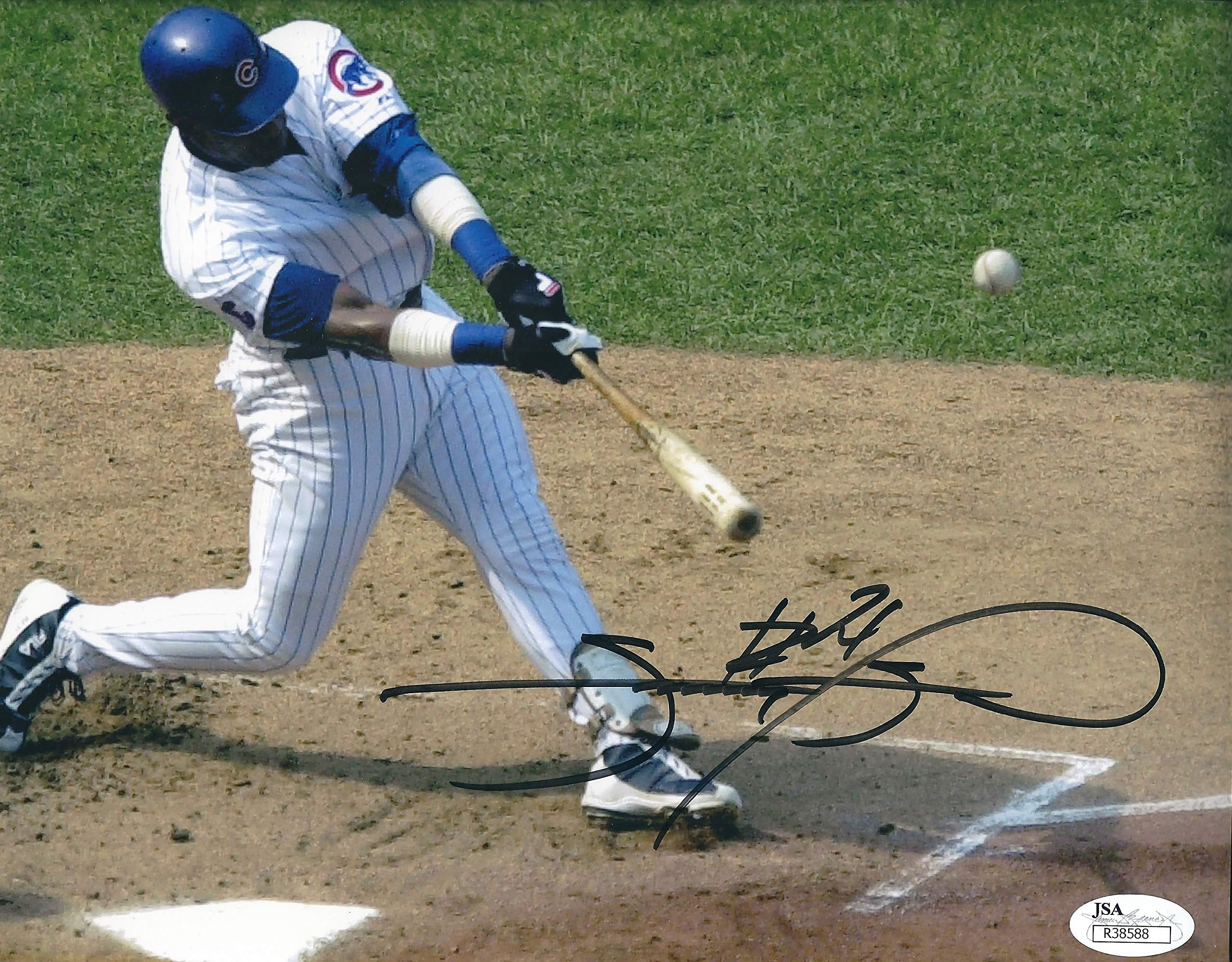 Autographed Sammy Sosa 8x10 Chicago Cubs Photo JSA