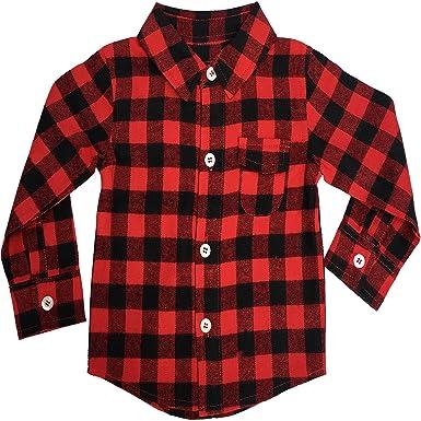 f850f793c59 Amazon.com  Baby Flannel Shirt  Infant Buffalo Plaid for Girl or Boy NB-6M   Clothing