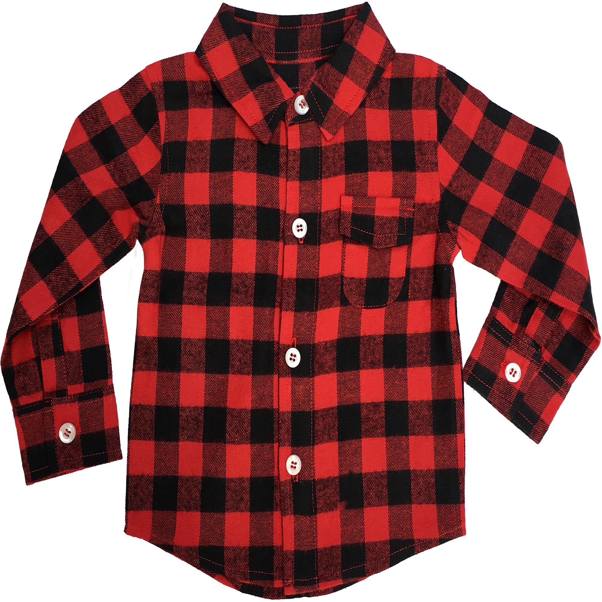 Toddler Flannel Shirt: Toddler Buffalo Plaid for Girl Boy 3T
