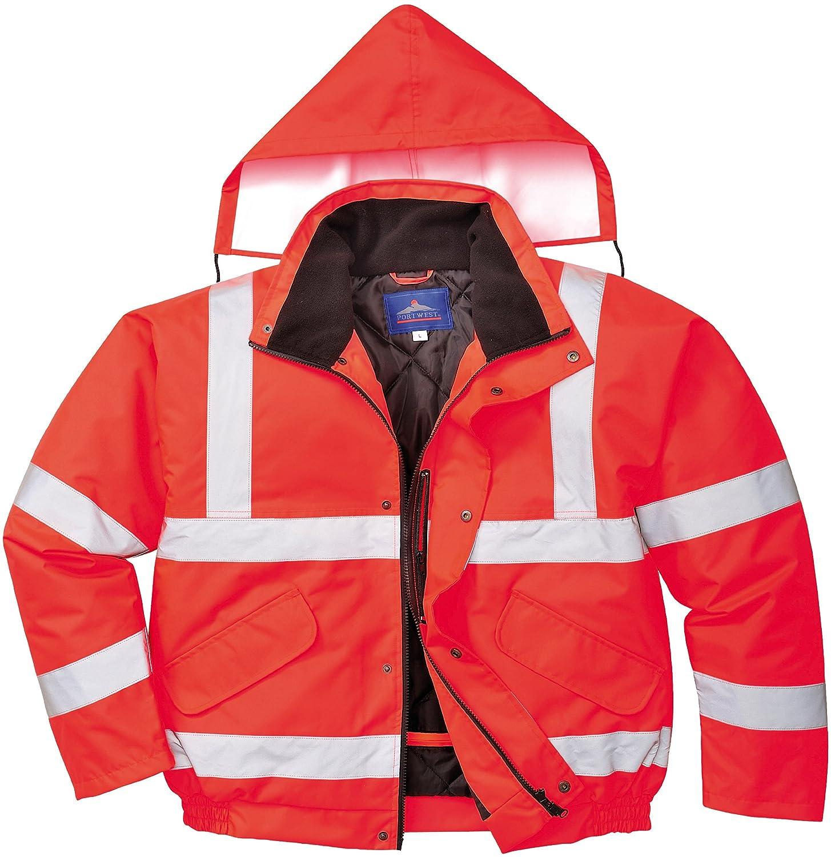 2X-Large Red/Navy Portwest TX50RNRXXL Lille Hi-Vis Jacket