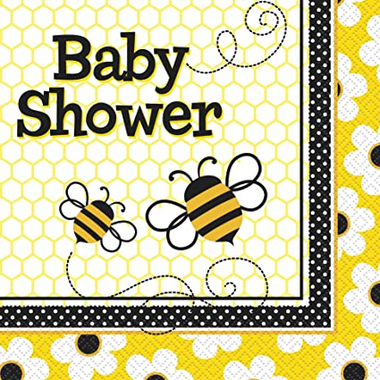Amazon Bumble Bee Baby Shower Napkins 16ct Adult Sized
