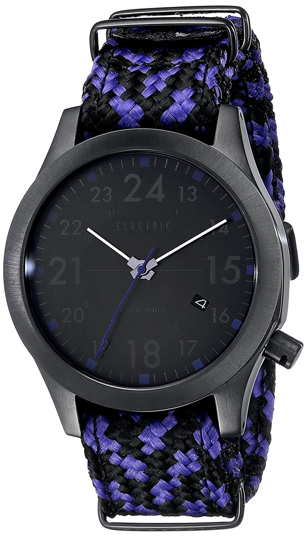 Electric メンズ FW01 Nato ファッション腕時計 One Size ALL BLACK/ROYAL B00N9SI2XC One Size ALL BLACK/ROYAL ALL BLACK/ROYAL One Size