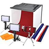 "Emart Portable Photo Studio, 16"" x 16"" Table Top Lighting LED Light Box Tent Kit for Product Photography"