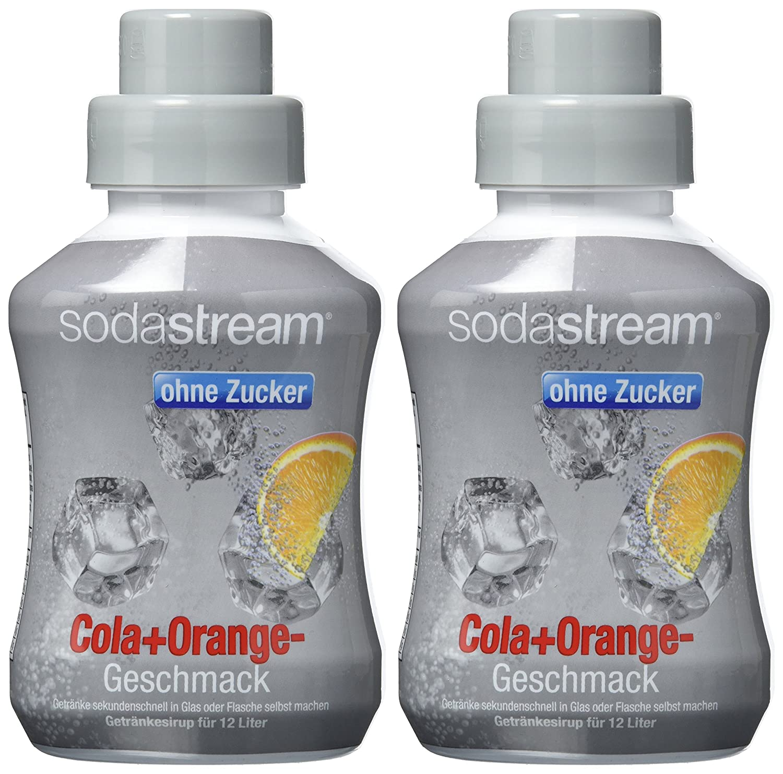 Sodastream Sirup Cola + Orange - ohne Zucker, 2er Pack (2 x 500 ml ...