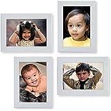 Ajanta Royal Classic Set Of 4 Individual Photo Frames (4-4X6 Inch) : A-26C (White)