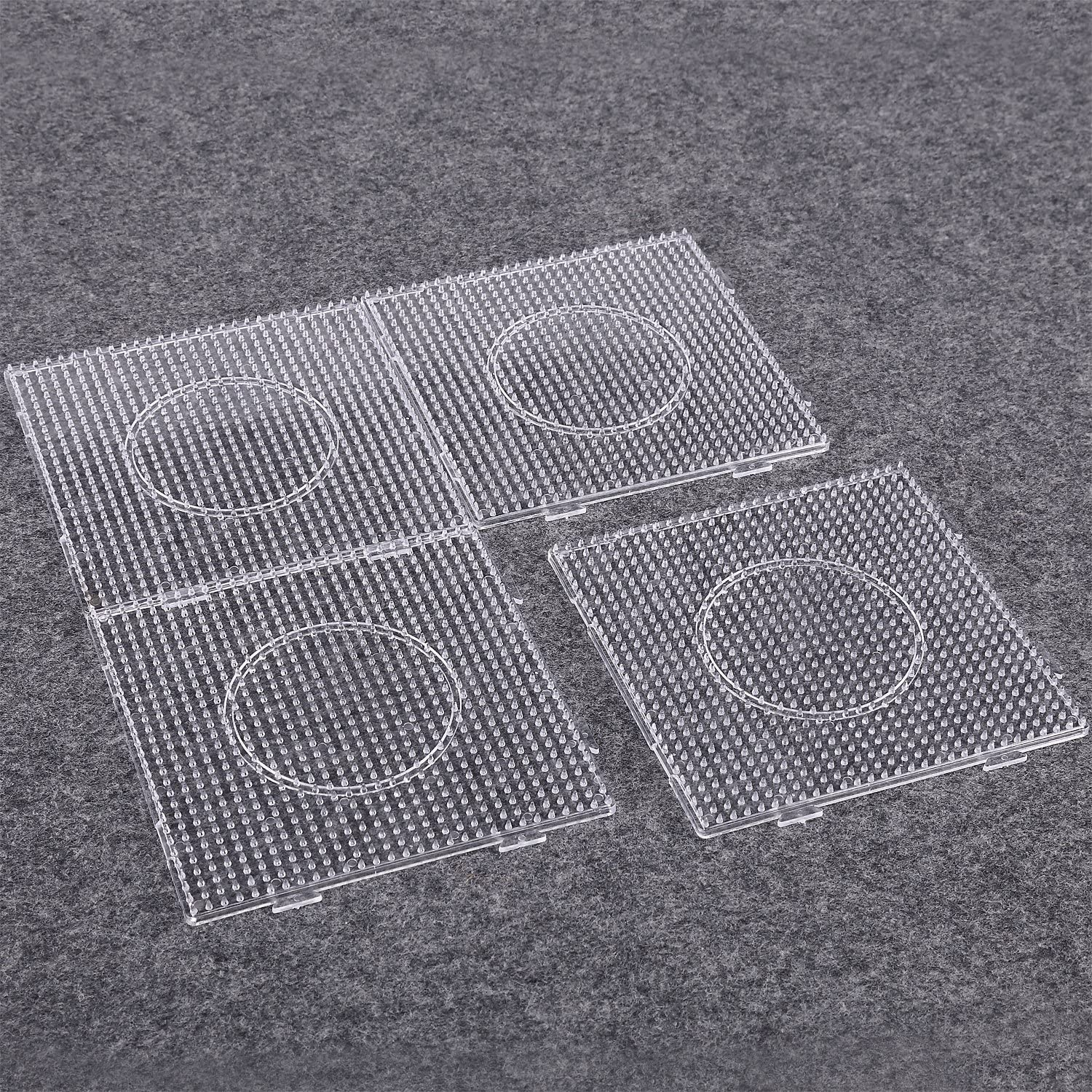 Sago Brothers Fuse Beads Boards Large Clear Pegboards for Ki