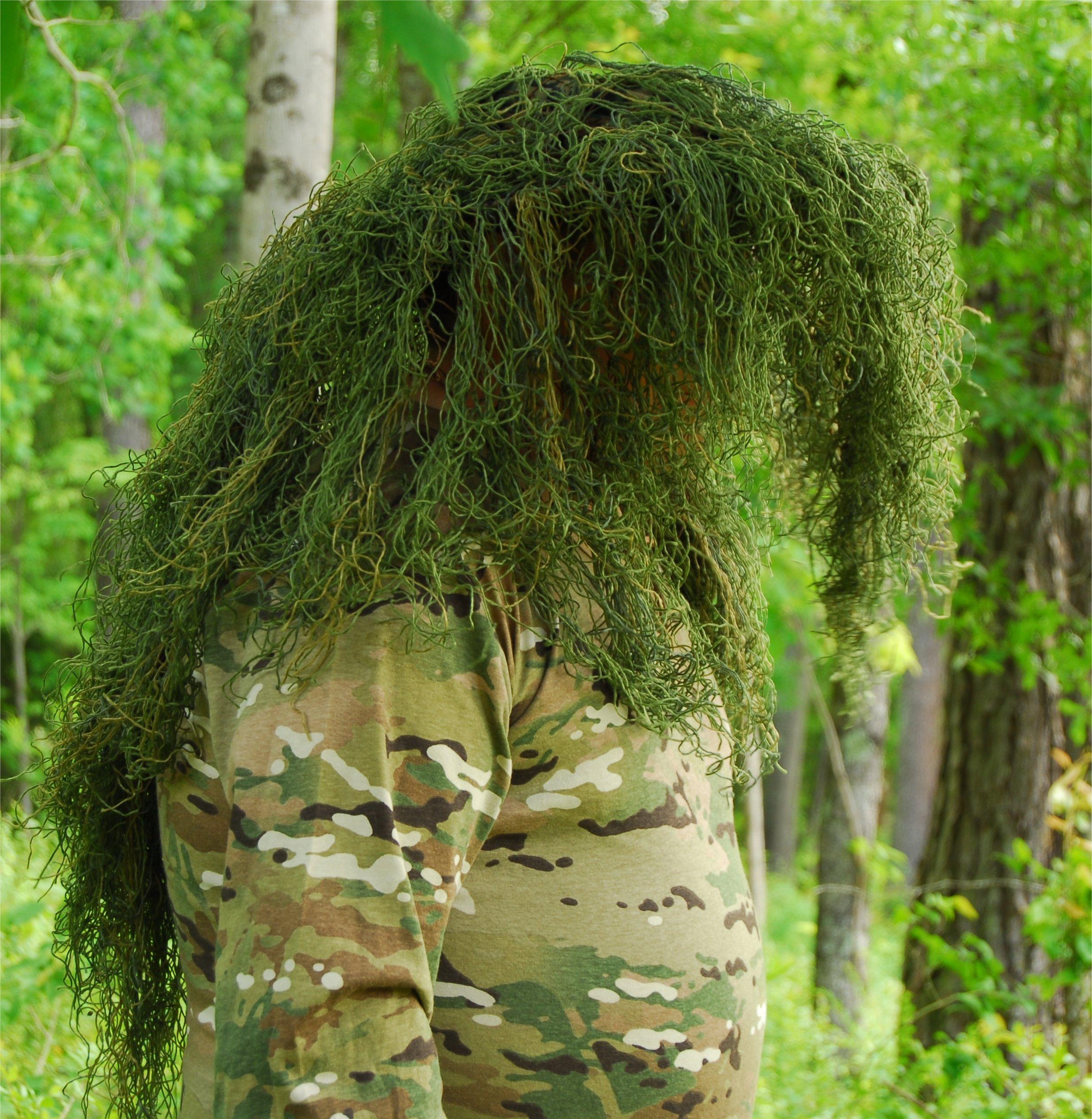Ghillie Boonie Hat (Leafy Green, 7)