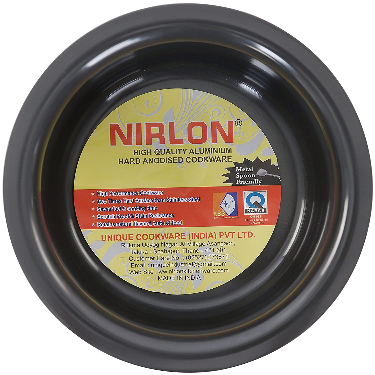 Buy Nirlon Hard Anodised Durable Top 10 Inch 25 Cm Top 11 Inch