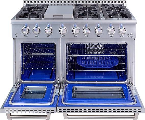 Amazon.com: Thor HRG4808U-1 - Gama de gas de cocina con 6 ...