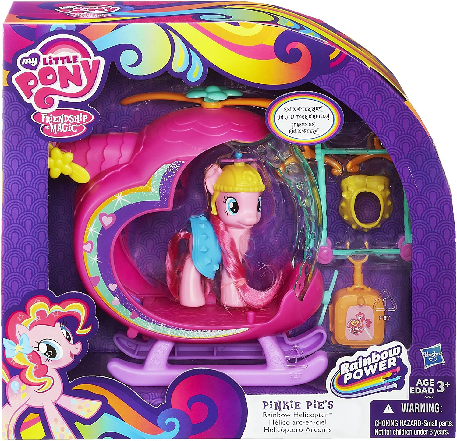 Amazon.es: My Little Pony Pinkie Pies Rainbow Helicopter by Hasbro: Juguetes y juegos