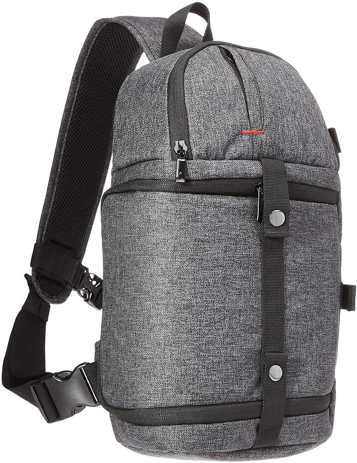AmazonBasics Camera Sling with Adjustable Cross-Body Strap (High Density Water-Resistant 840D Polyester) - Ash Gray