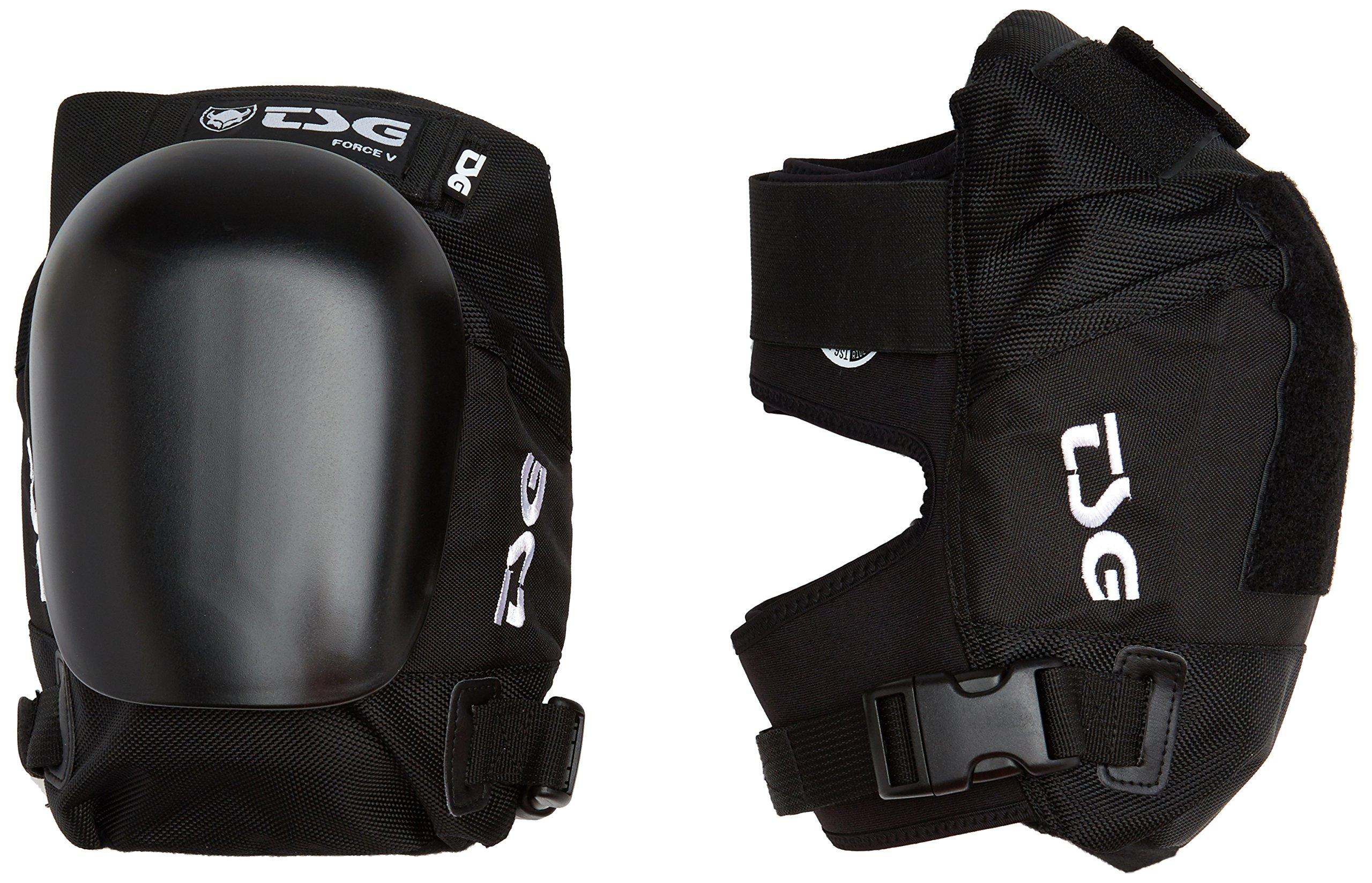 TSG - Kneepad Force V Pads for Skateboard (Black, S)
