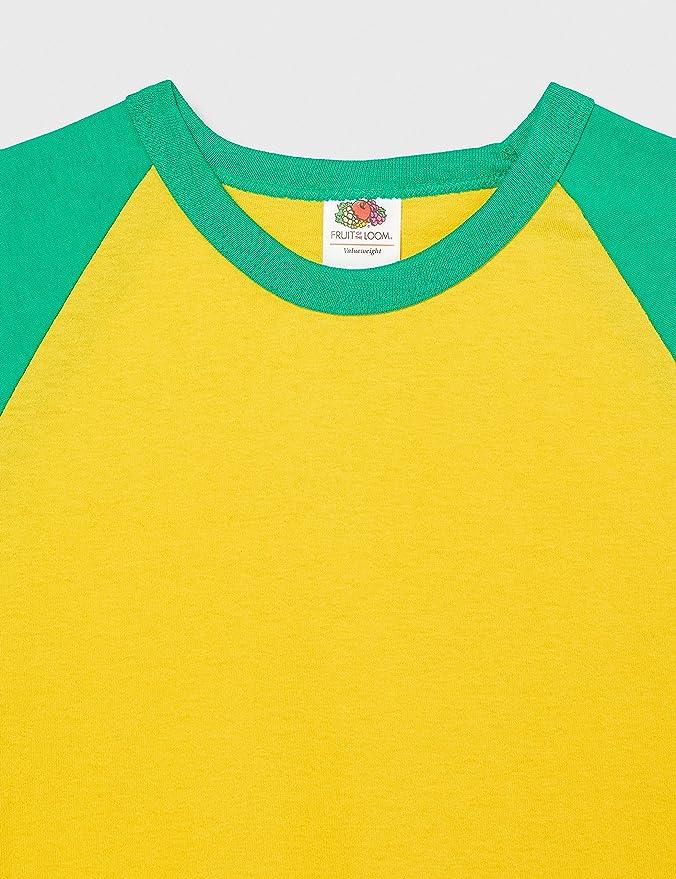 2er Pack Fruit of the loom Shortsleeve Baseball T-shirt homme Field Marshal Shirt