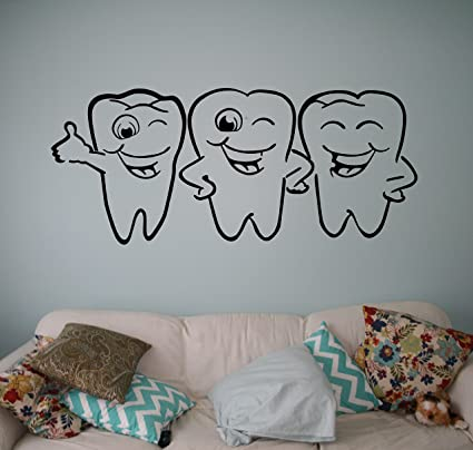 . Dental Teeth Wall Decal Dentist Medical Vinyl Sticker Home Decor