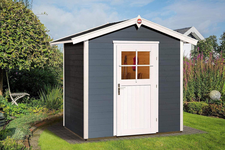 Weka Gartenhaus 223 Größe 1 mit Einzeltür anthrazit