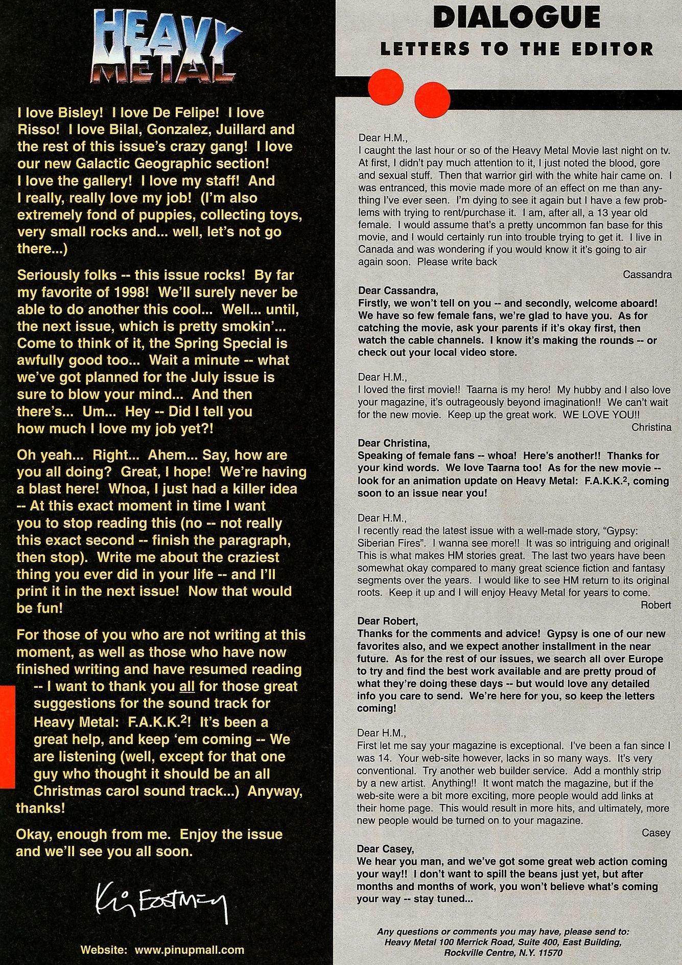 Heavy Metal March 1998: Heavy Metal: Amazon.Com: Books