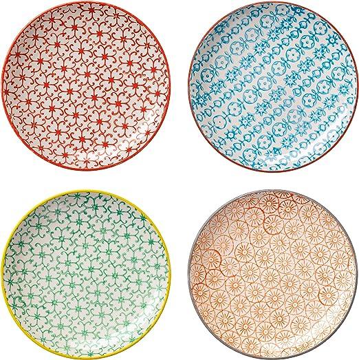 Bloomingville Plato de loza Carla multicolor