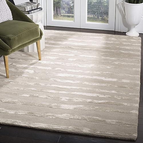 Safavieh Soho Collection SOH519A Handmade Grey Premium Wool Area Rug 8 x 10