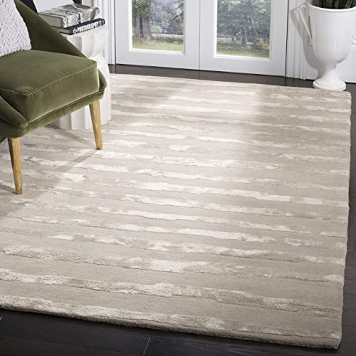 Safavieh Soho Collection SOH519A Handmade Grey Premium Wool Area Rug 3 6 x 5 6