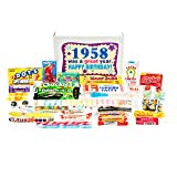 Woodstock Candy 1958 60th Birthday Gift Box - Nostalgic Retro Candy Mix from Childhood for 60 Year Old Man or Woman Jr.