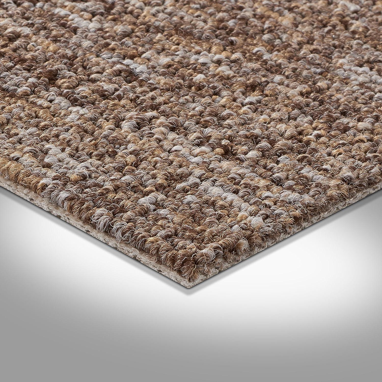 B/üro Schlinge gemustert 400 und 500 cm Breite Gr/ö/ße: 1 Muster Teppichboden Auslegware braun beige Meterware verschiedene Gr/ö/ßen