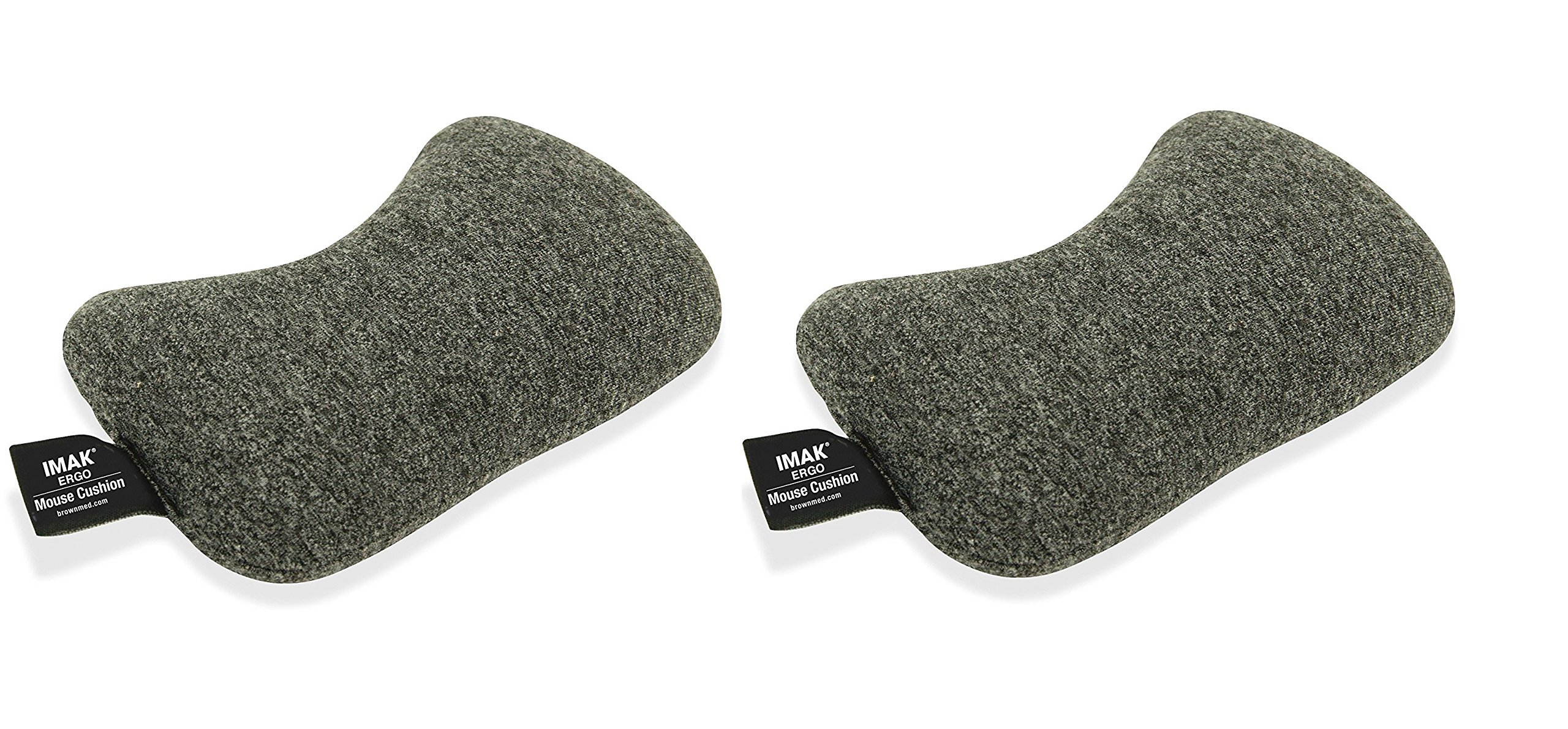 IMAK Wrist Cushion for Mouse - Gray (Pack of 2) by Imak Products