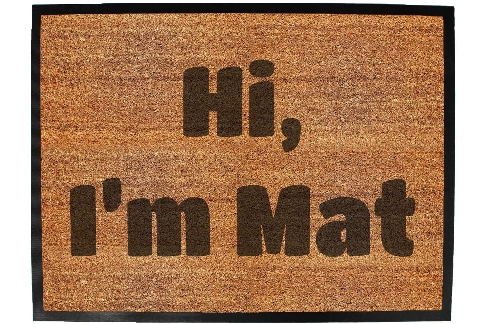 123t hi im mat - Funny Doormat Floor Matt