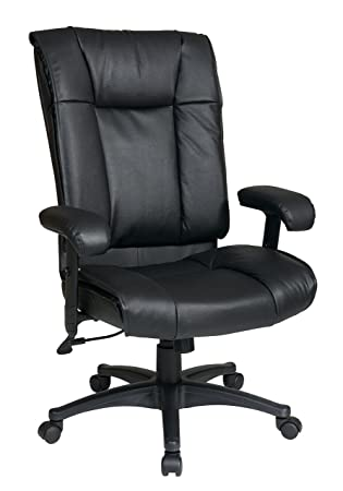 Amazoncom Office Star EX9382 Executive High Back Leather Chair