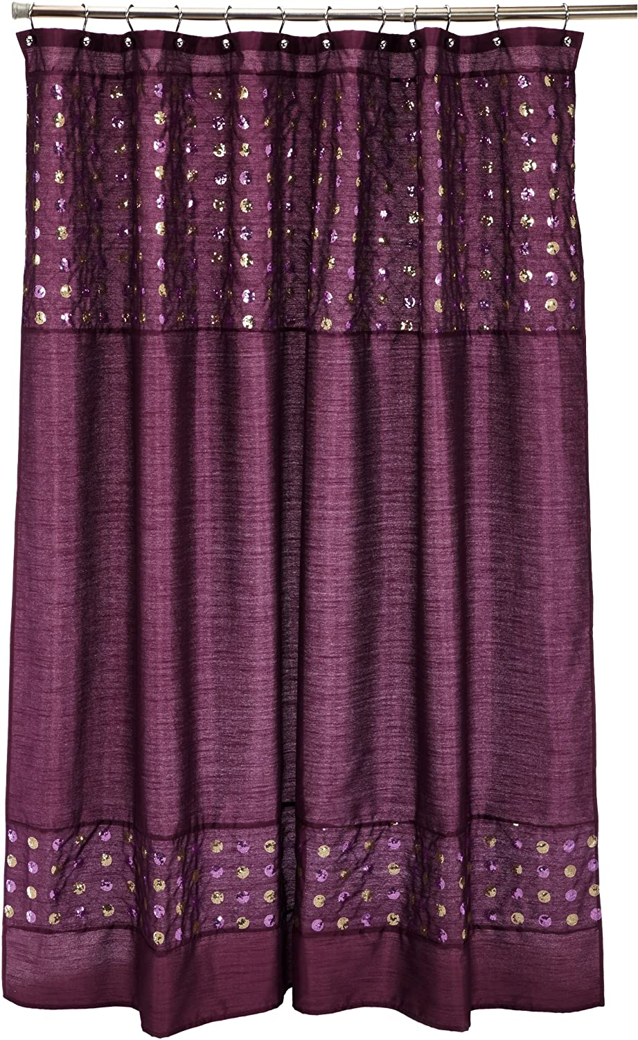 Amazon Popular Bath Sequins Shower Curtain Purple Home Kitchen