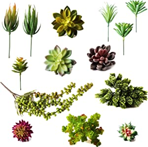 Fake Succulent Plants, Pack of 14 - Ultra-Realistic Succulent Plants for Home, Office & Party Decor, Plants to Brighten up Your Indoor and Outdoor Decor