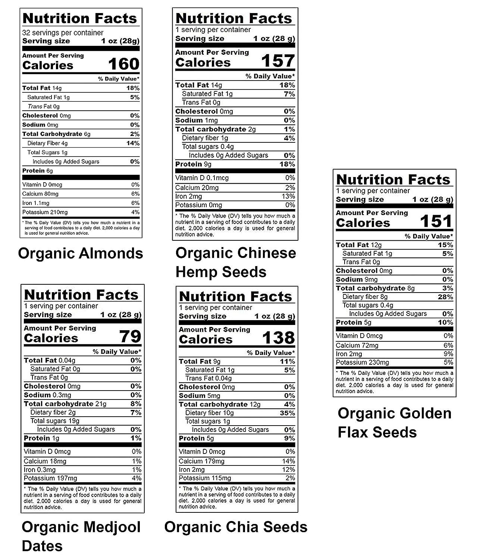 Nueces, semillas y frutas Orgánicas en una caja de regalo ...