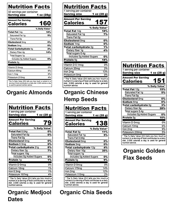 Nueces, semillas y frutas Orgánicas en una caja de regalo - un ...