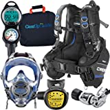 Cressi / Ocean Reef Full-Face Mask Scuba Gear Package with GupG Reg Bag