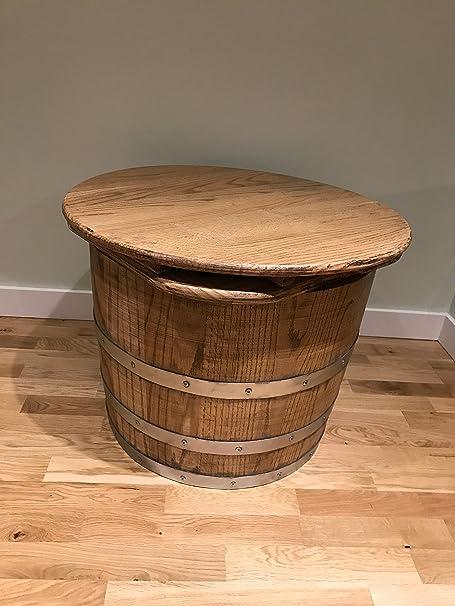 Oak Barrels Direct Redonda de Madera de Roble Barril Mesa de café ...
